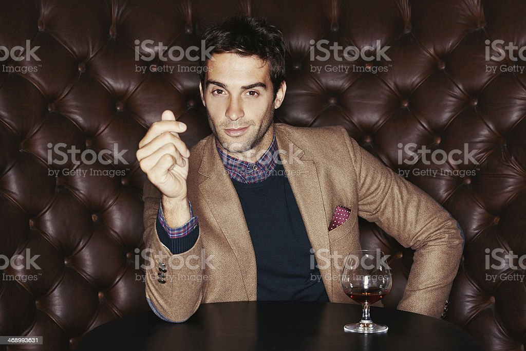 Enjoying the finer things stock photo