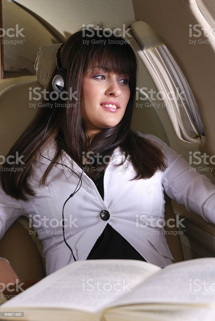 Enjoying the flight royalty-free stock photo