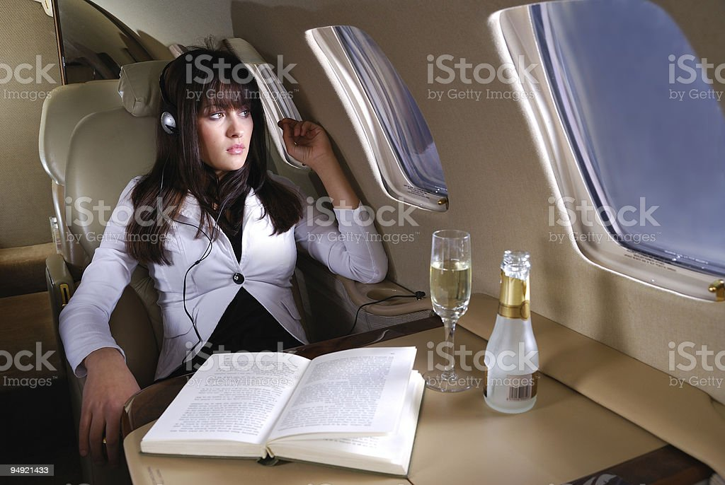 Enjoying the flight royalty-free stock photo