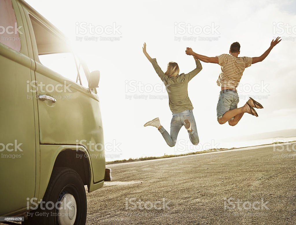 Enjoying the freedom of youth stock photo