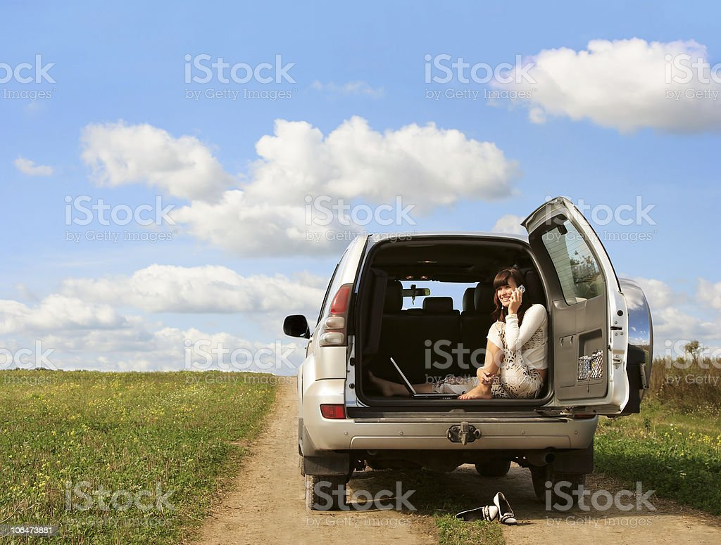 Enjoying the freedom stock photo