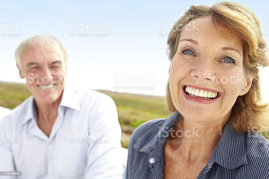 Enjoying the great outdoors together royalty-free stock photo