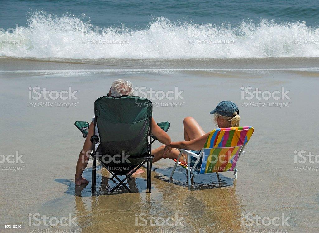 Enjoying the Jersey Shore stock photo