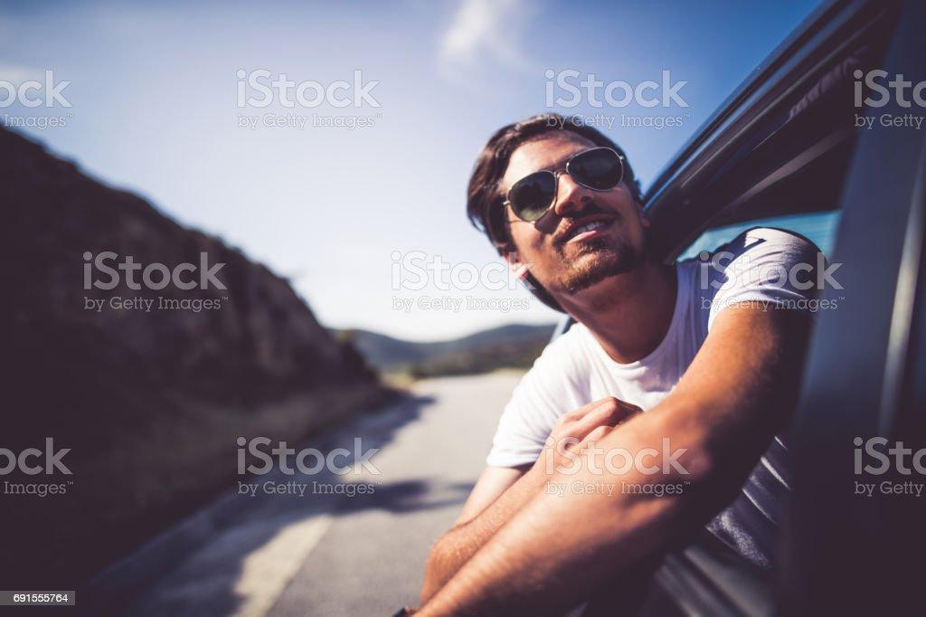 Enjoying the journey stock photo