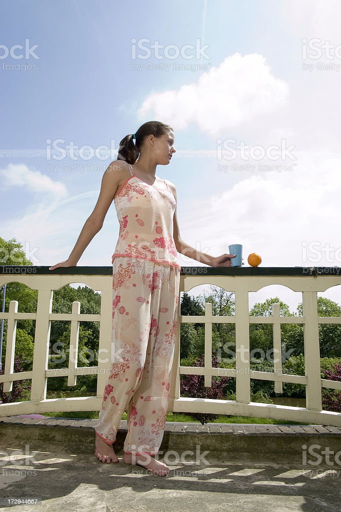 enjoying the morning sun royalty-free stock photo