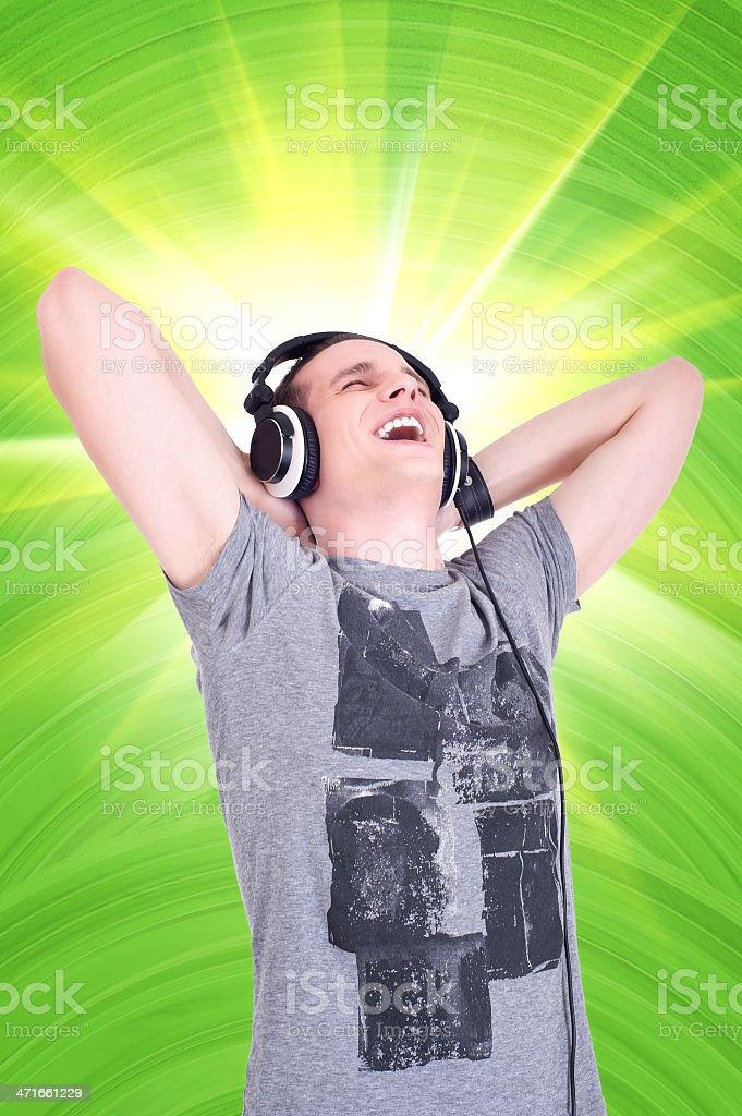 Enjoying The Music royalty-free stock photo
