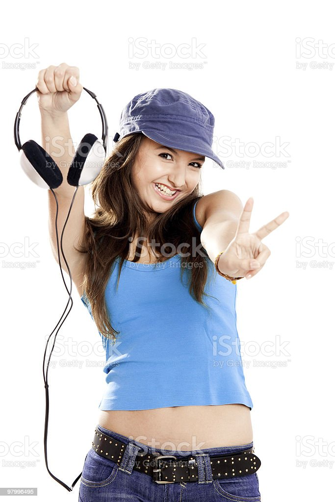 Enjoying the music royalty-free stock photo