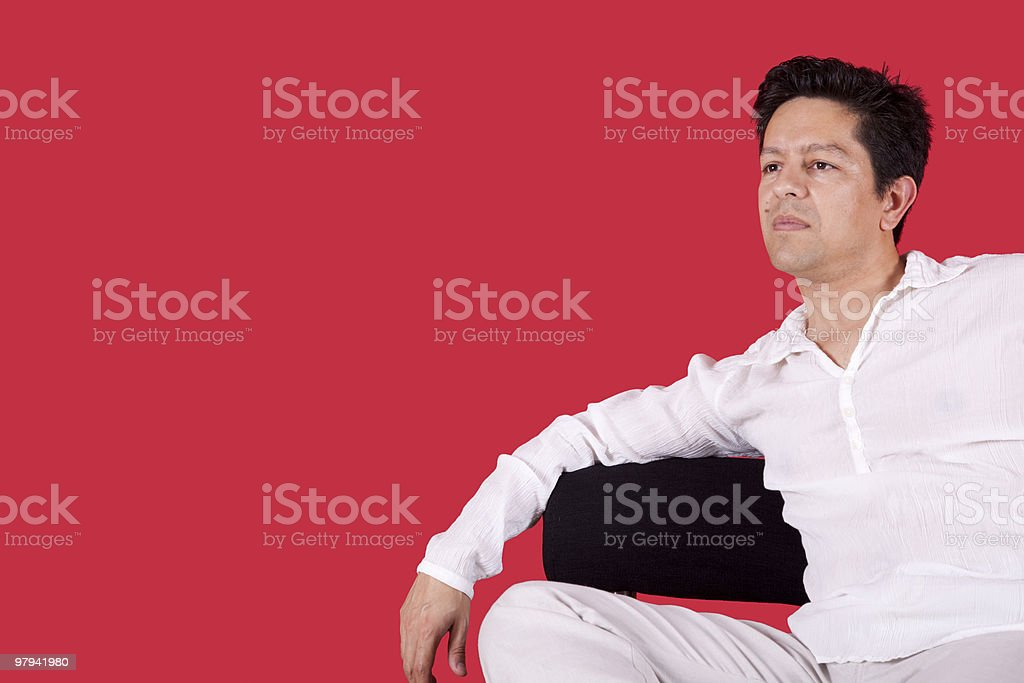 Enjoying the new house royalty-free stock photo