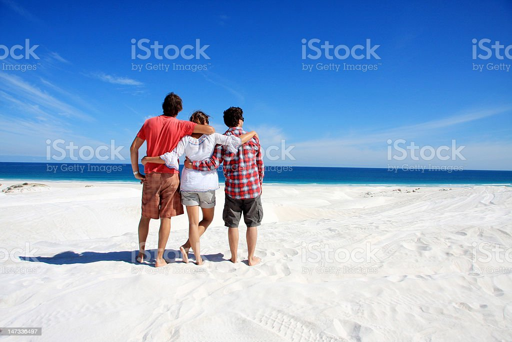 Enjoying the ocean view stock photo