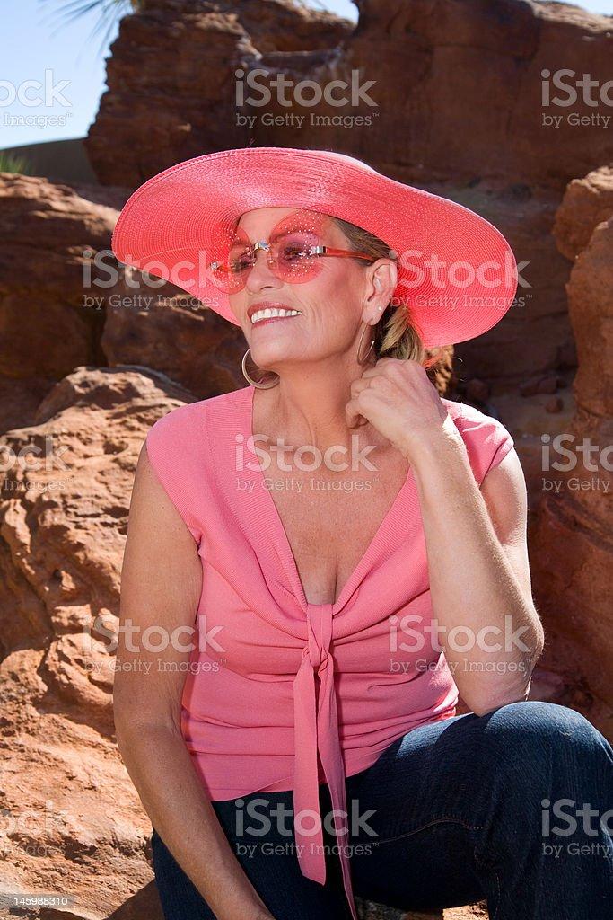 Enjoying the outdoors royalty-free stock photo