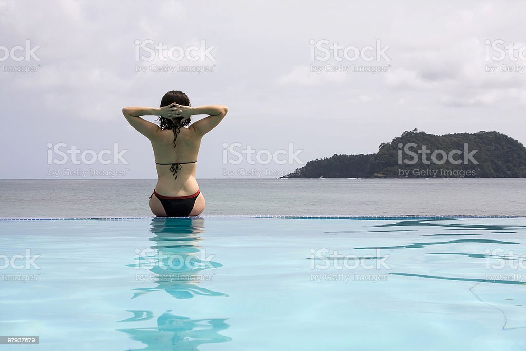 enjoying the paradise royalty-free stock photo