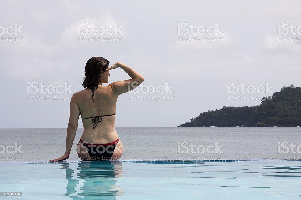 enjoying the paradise royalty-free stock photo