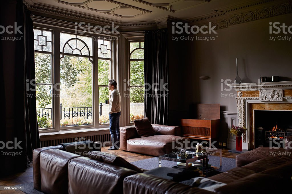 Enjoying the peace and quiet of morning stock photo