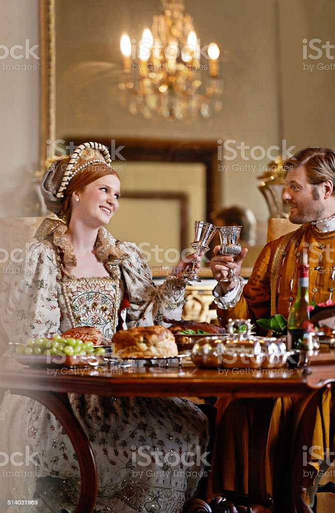 Enjoying the perks of royal birth stock photo