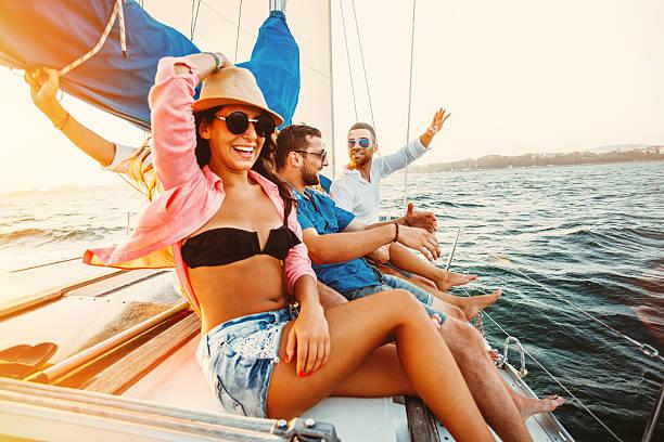 Disfruta de los viajes al mar - foto de stock