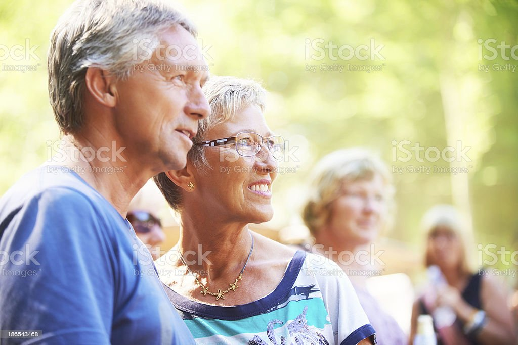 Enjoying the sights royalty-free stock photo
