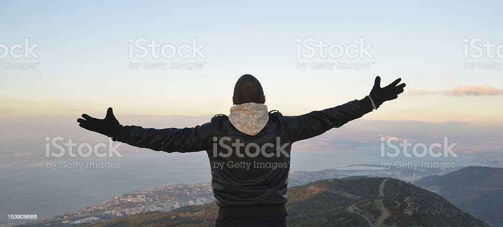 Enjoying the sky royalty-free stock photo