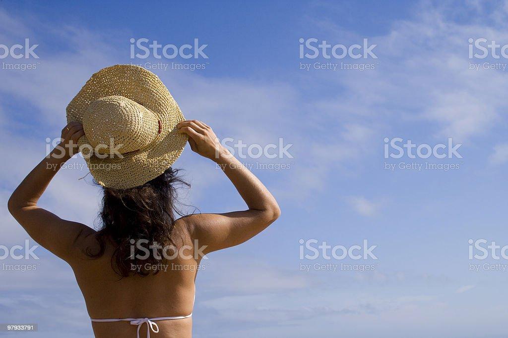 Enjoying the summer breeze royalty-free stock photo