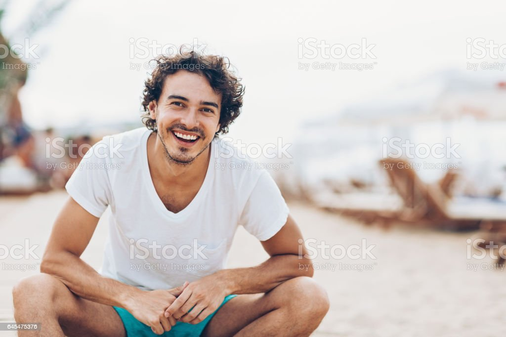 Genießen Sie den Sommer am Strand - Lizenzfrei Abwarten Stock-Foto