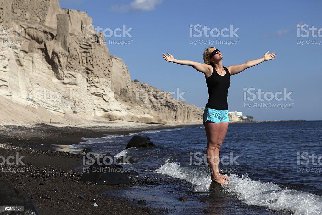Enjoying the sun and life royalty-free stock photo