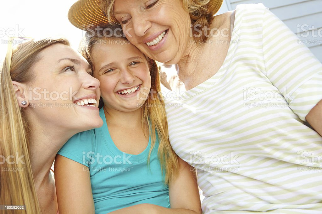 Enjoying the warm summer day together royalty-free stock photo
