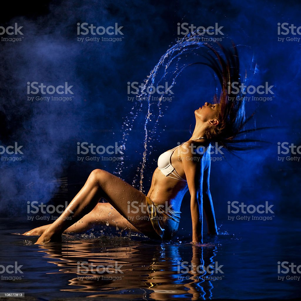 Enjoying the water royalty-free stock photo