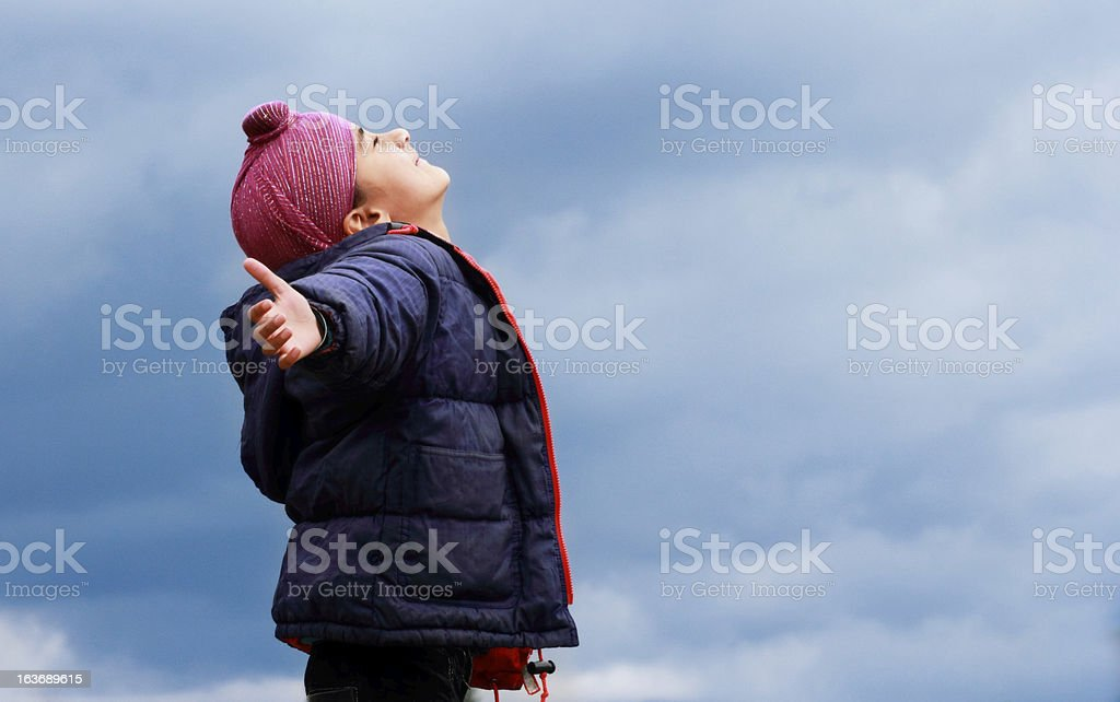 Enjoying the weather stock photo