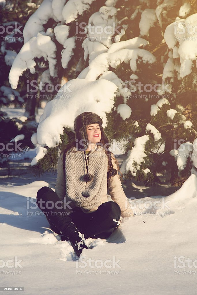 Enjoying The Winter Season stock photo