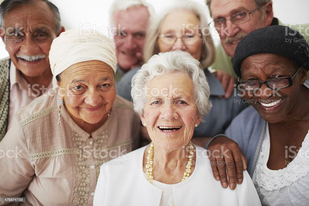 Enjoying their retirement stock photo