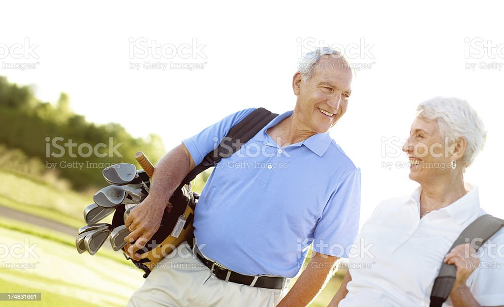 Enjoying their retirement together royalty-free stock photo