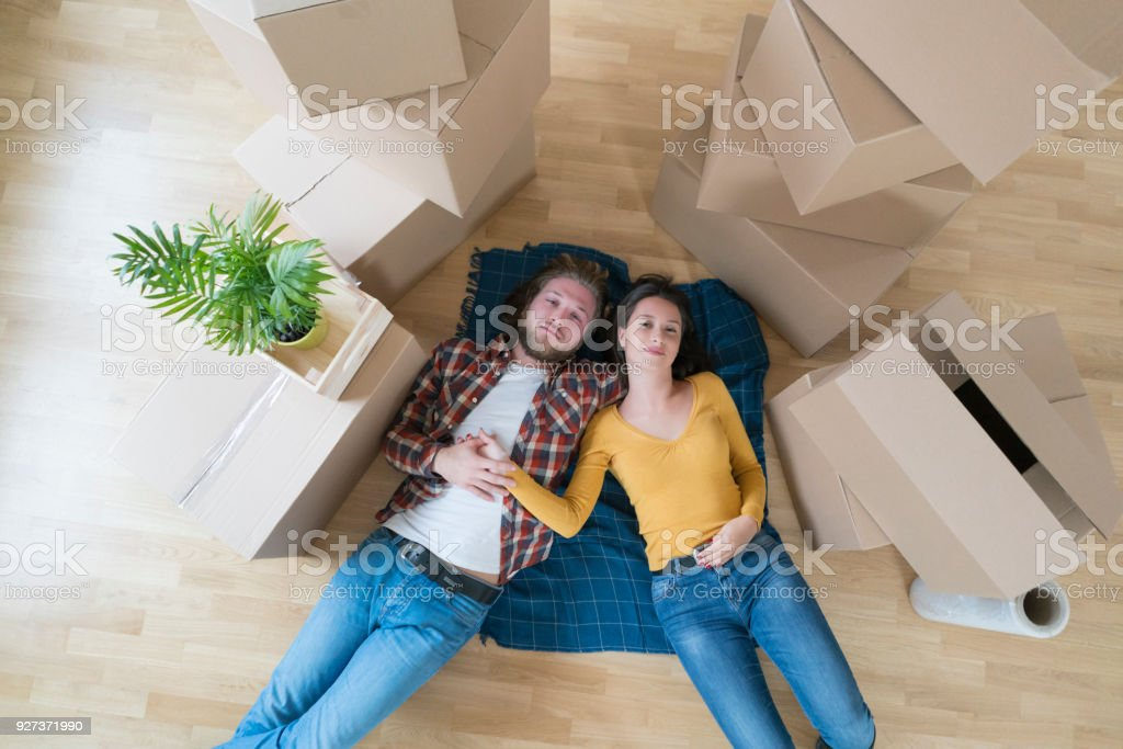 Enjoying Under Their Roof - Royalty-free Adhesive Tape Stock Photo