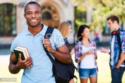 istock Enjoying university life. 507923003