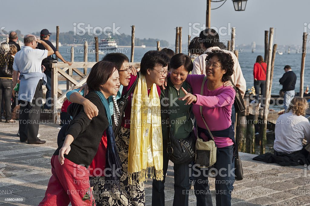 Enjoying Venice royalty-free stock photo
