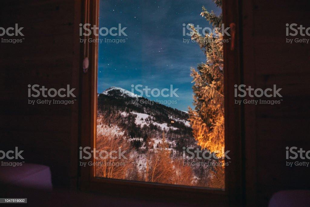 Aussicht von der blockhütte – Foto