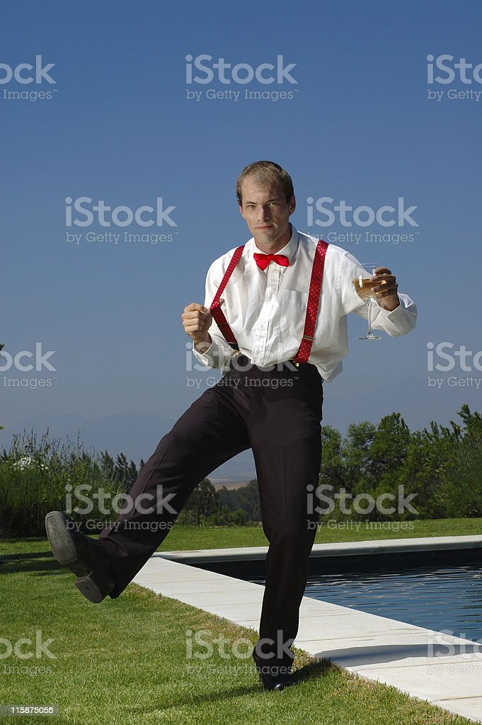 Enjoying wealth royalty-free stock photo