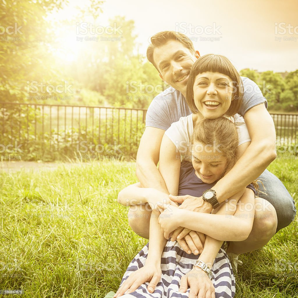 Enjoying with family in the park royalty-free stock photo