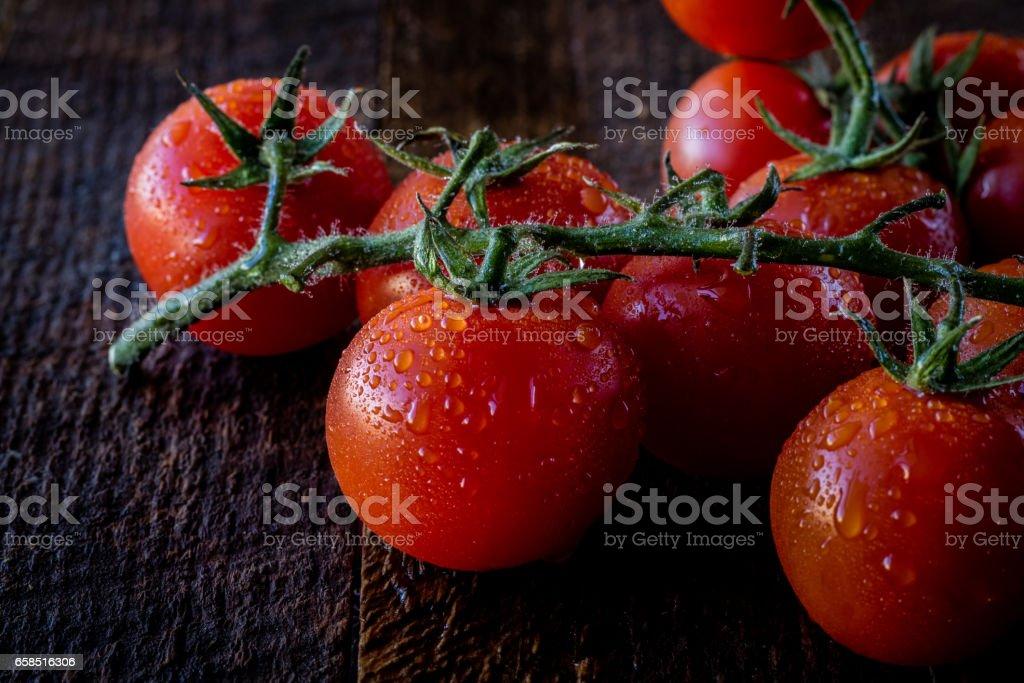 Enjoyment of Italian food stock photo