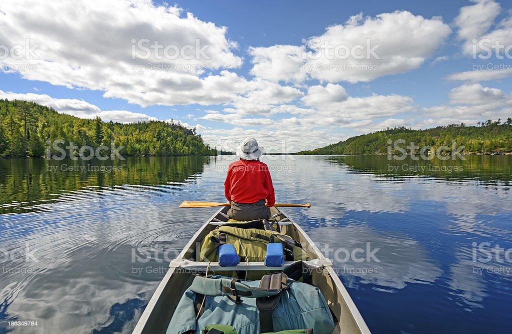 Enjoyng the Wilderness stock photo