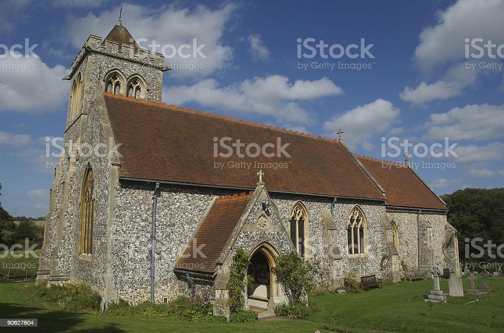 Enlgish church stock photo