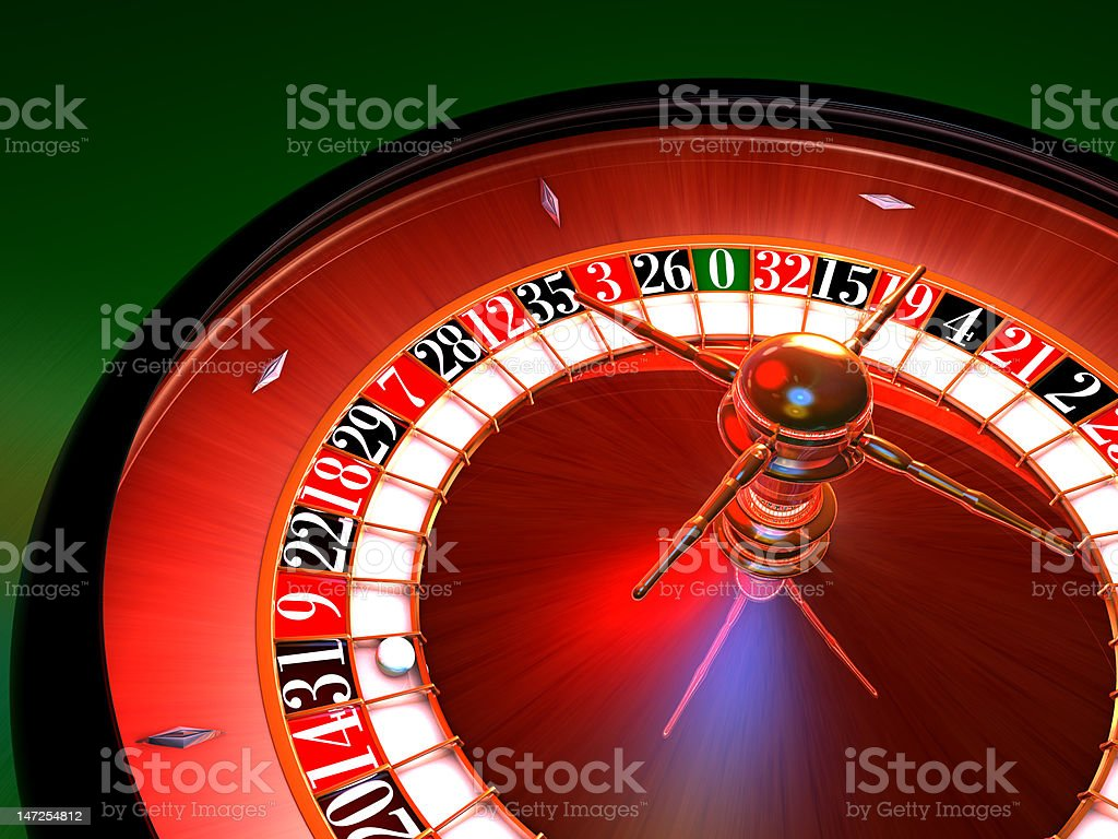 enlighted colorfull roulette, hard lights royalty-free stock photo