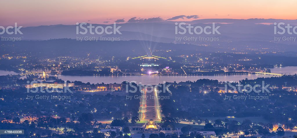 Enlighten 2015, Canberra, Parliament House, ACT, Australia stock photo