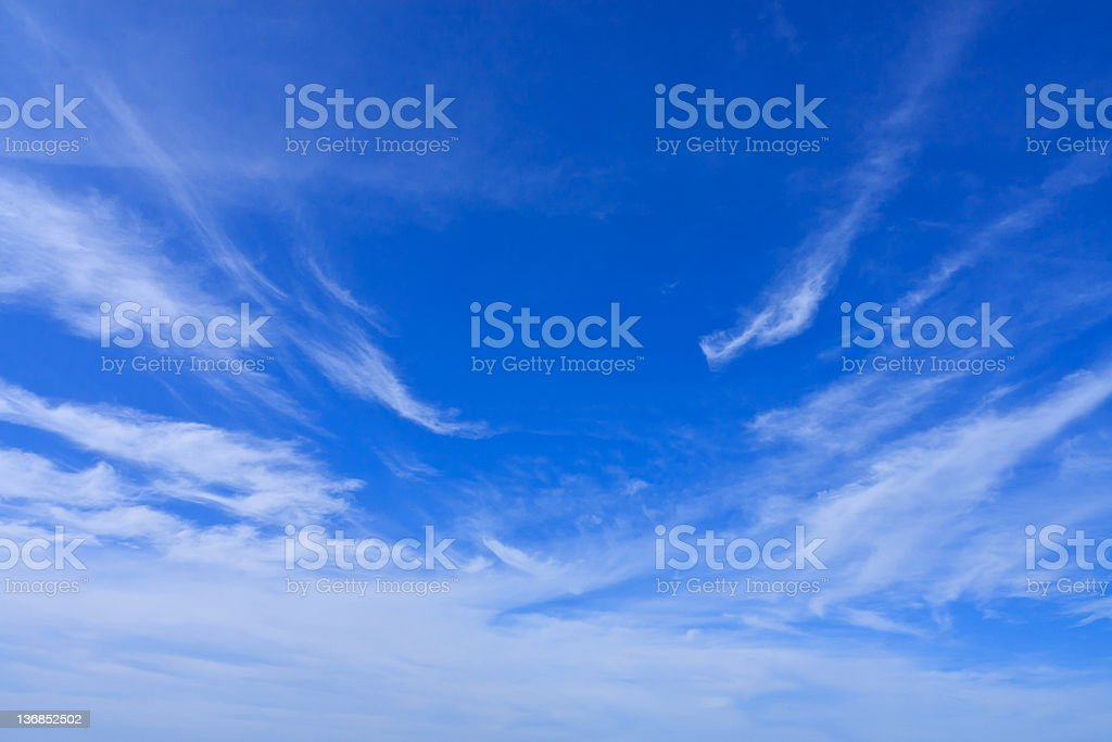 enlighten white cloud and blue sky royalty-free stock photo