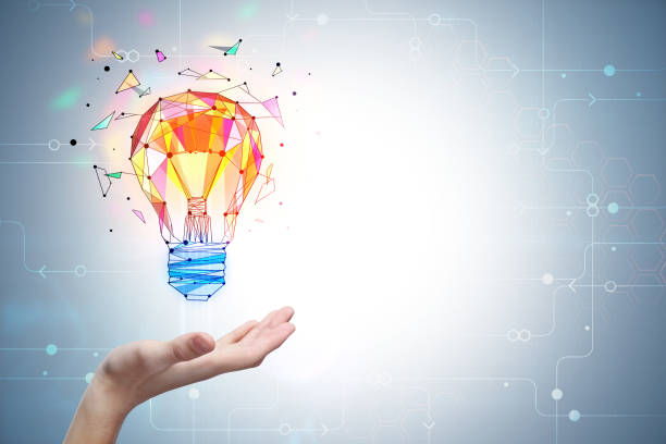 Enlightenment and innovation concept stock photo