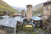 istock UNESCO enlisted defensive houses in historical village of Ushguli in Upper Svaneti region of Georgia. 1190254686