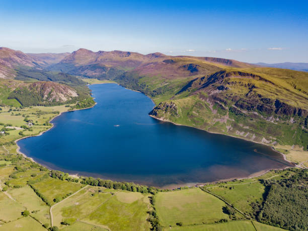 Ennerdale Water in Cumbia, UK A landscape of Ennerdale Water located in the Lake District, Cumbria, UK cumbria stock pictures, royalty-free photos & images