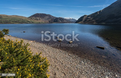 A view of Ennerdale Water, in the Lake District, Cumbria, England.