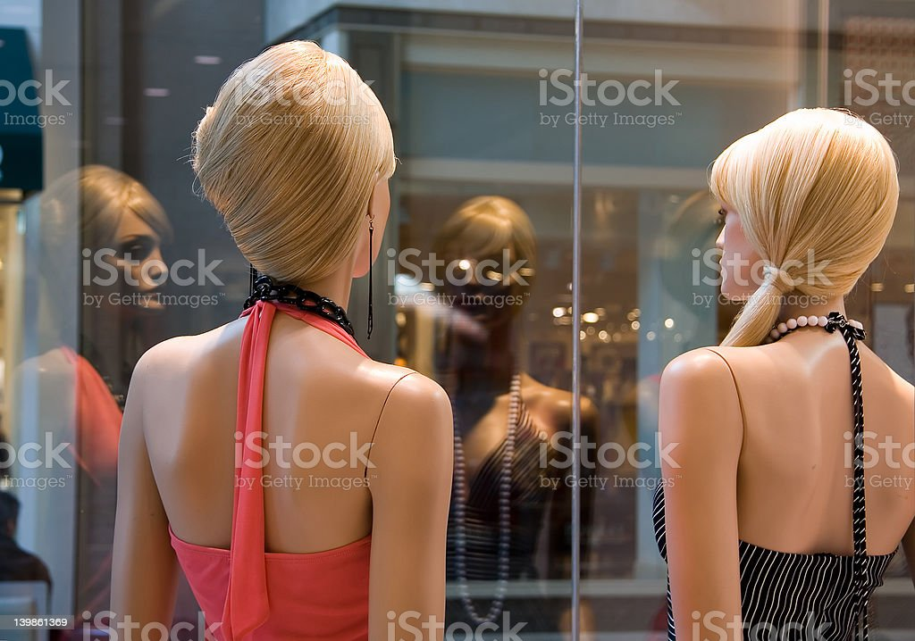 Ennui at the mall royalty-free stock photo