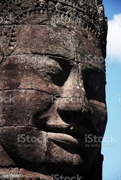 Enormous face at Bayon Temple, Angkor, Cambodia