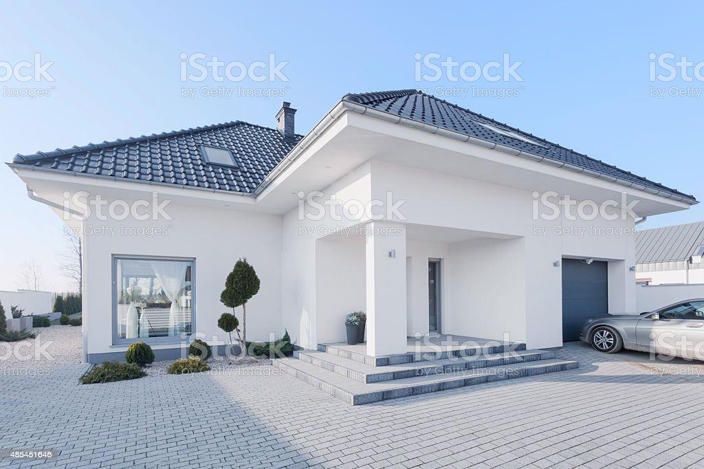 Enormous modern villa stock photo