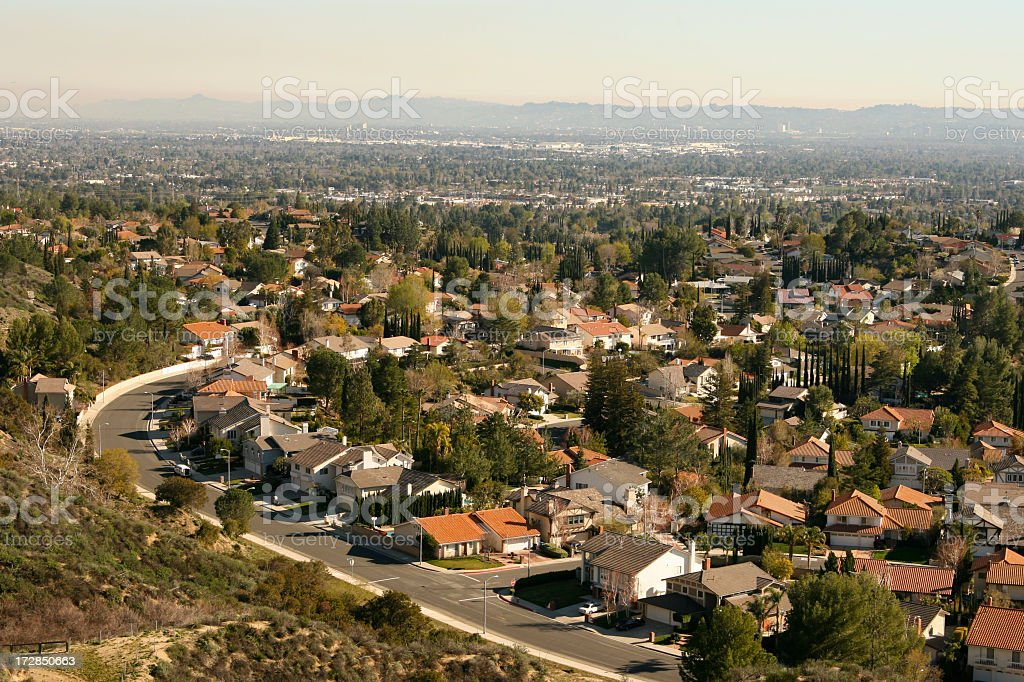 Enormous Suburban Community stock photo